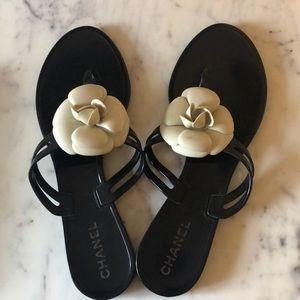 Chanel camellia sandal